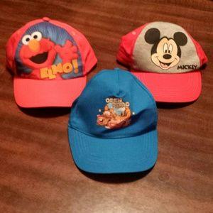 Bundle of three children's caps NWOT